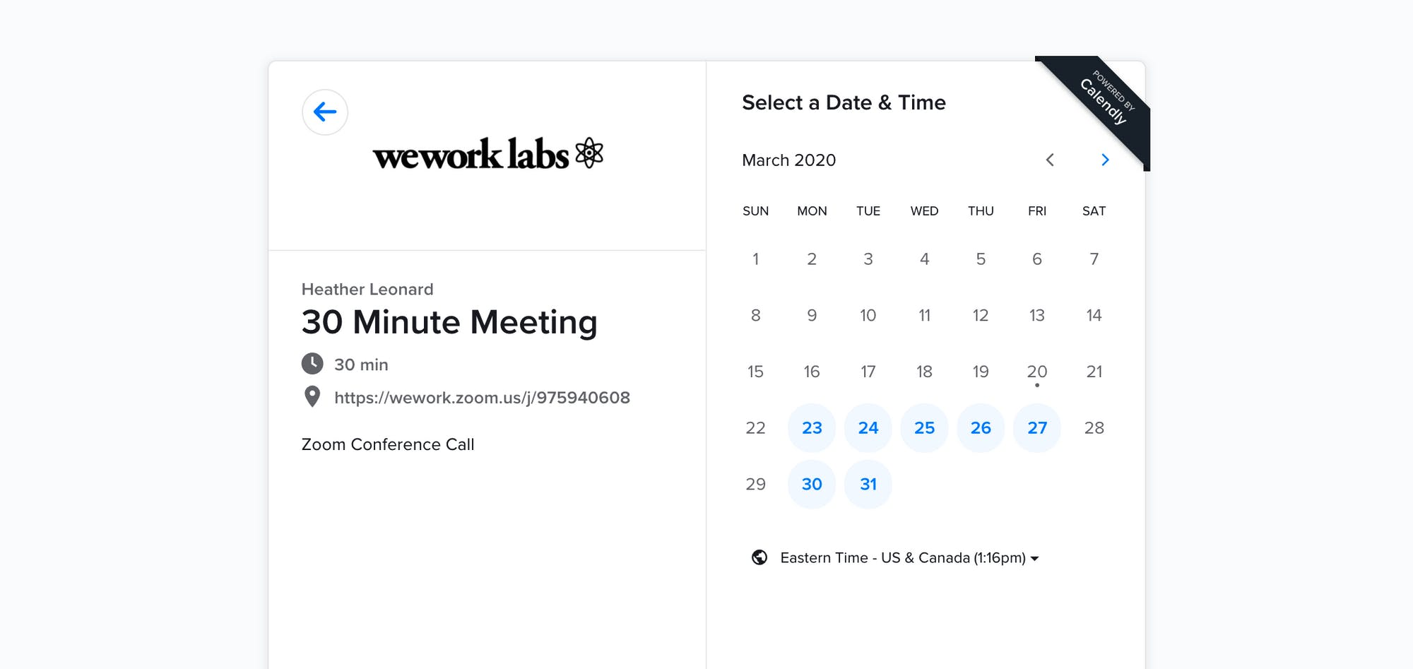 WeWork Labs Remote Mentor Office Hours: Calendly Set Up
