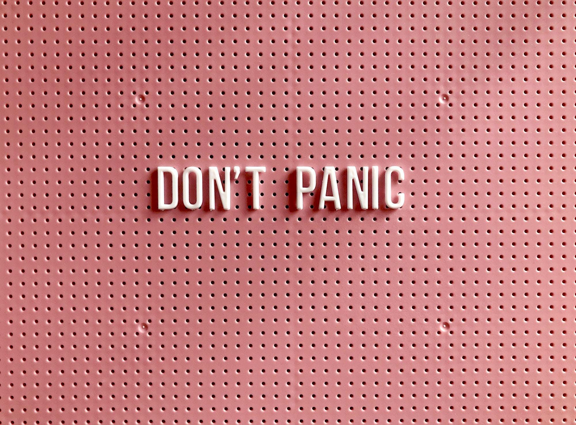 Surviving The Apocalypse, Step 1: Don't Panic