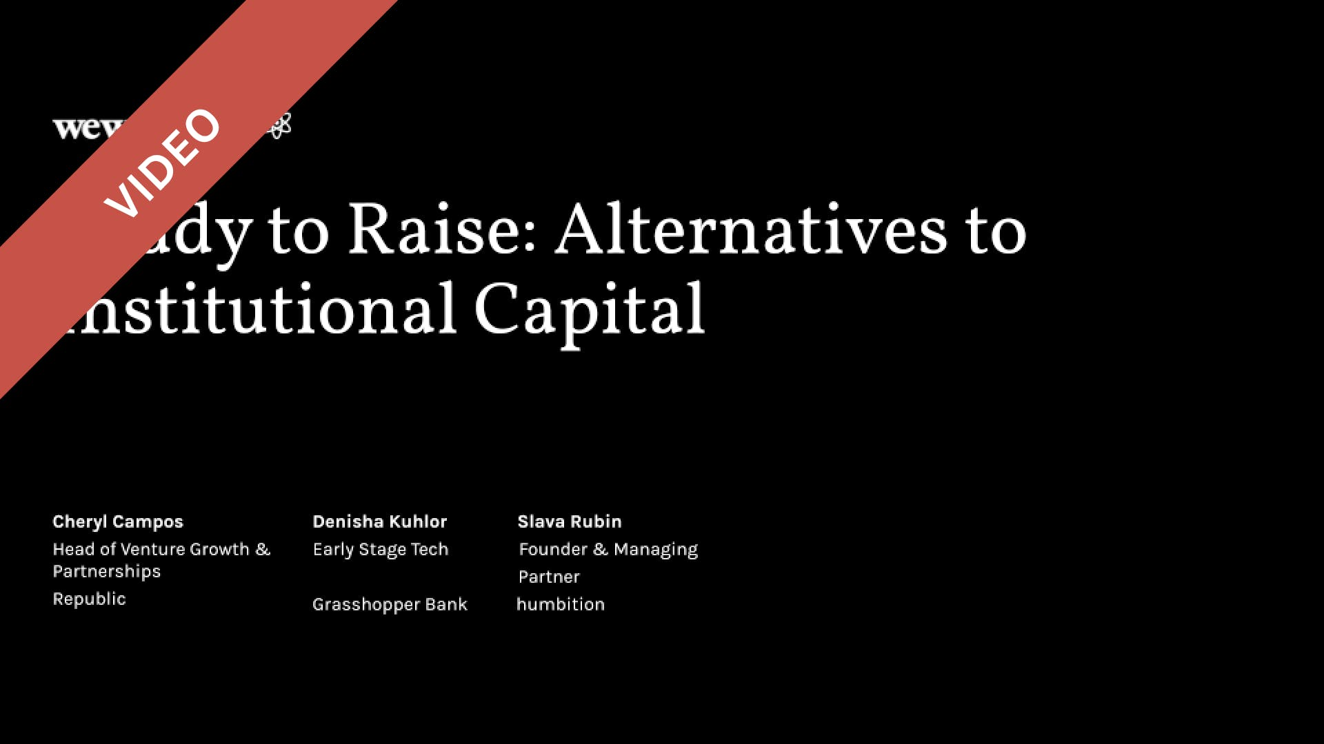 Ready to Raise: Alternatives to Institutional Capital