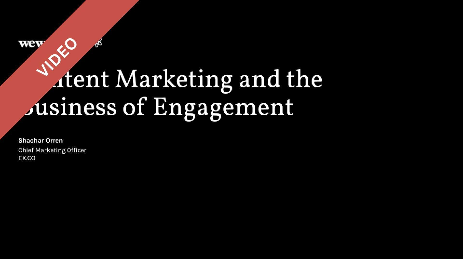 Content Marketing and the Business of Engagement