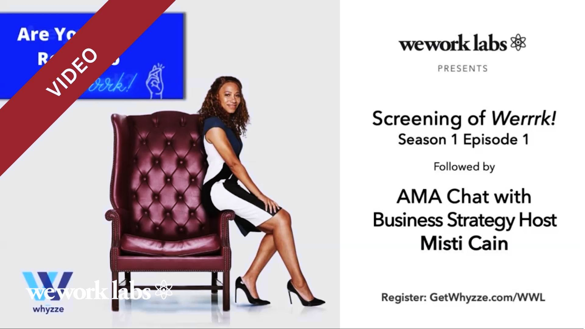 Misti Cain AMA, host of Business Reality Show, Werrrk!