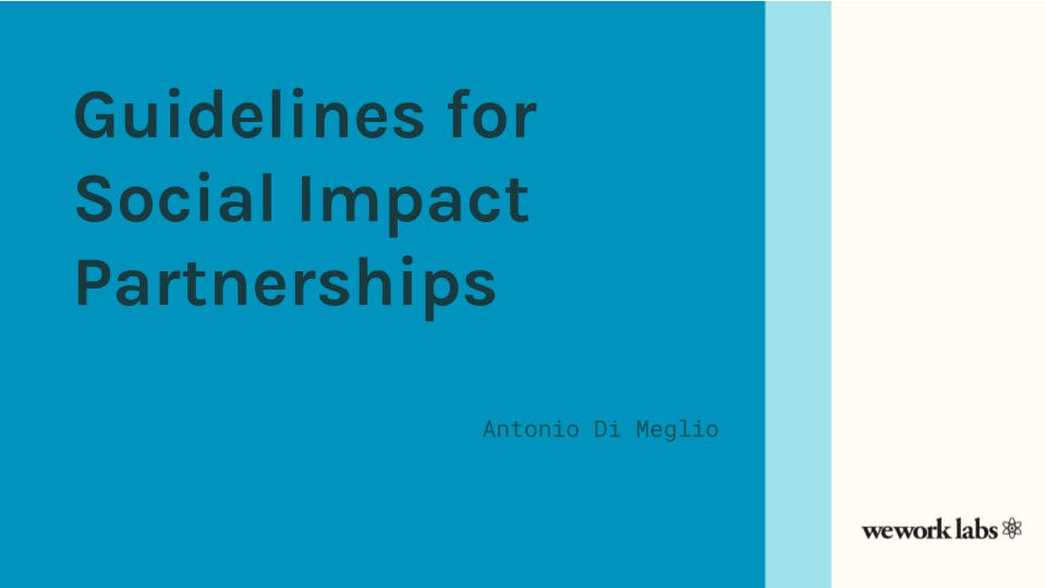 Guidelines for Social Impact Partnerships