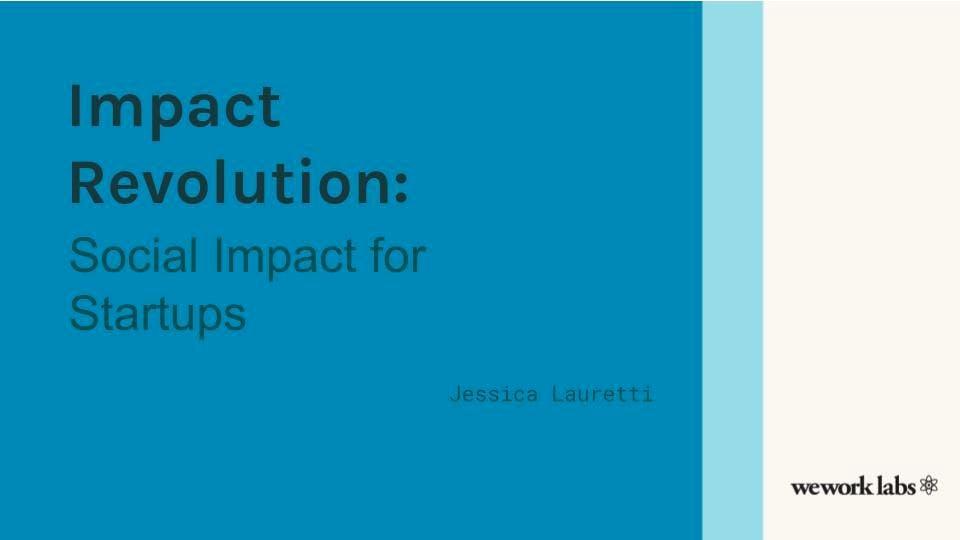 Impact Revolution: Social Impact for Startups
