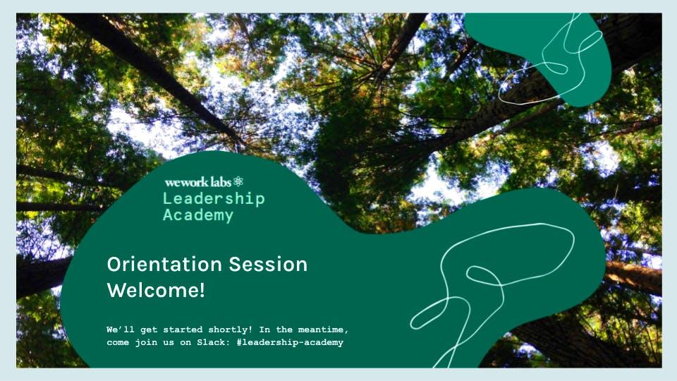 Leadership Academy Orientation