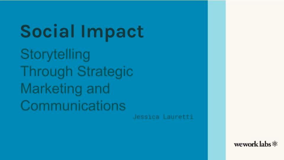 Social Impact Storytelling Through Strategic Marketing and Communications