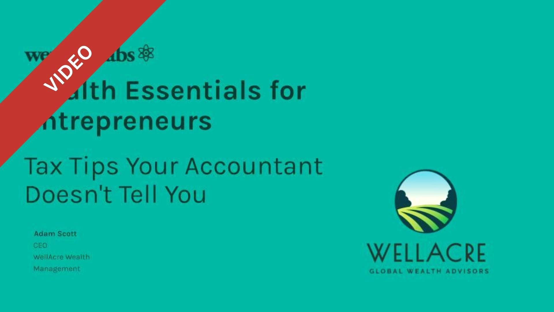Wealth Essentials How to Save A Fortune: Tax Tips Your Accountant Doesn't Tell You