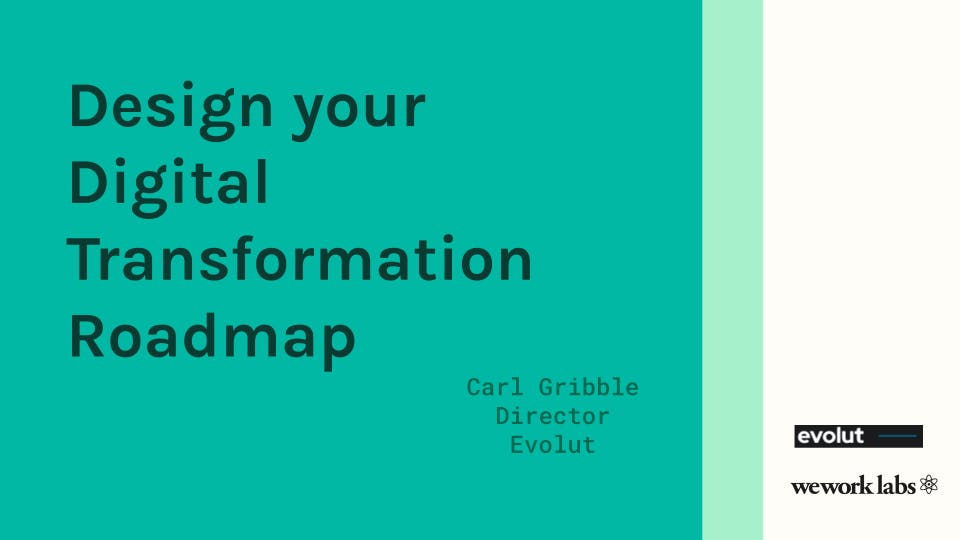 Design your Digital Transformation Roadmap