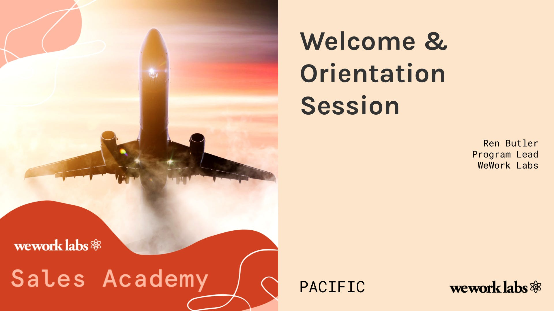 Sales Academy (Pacific): Welcome & Orientation Session