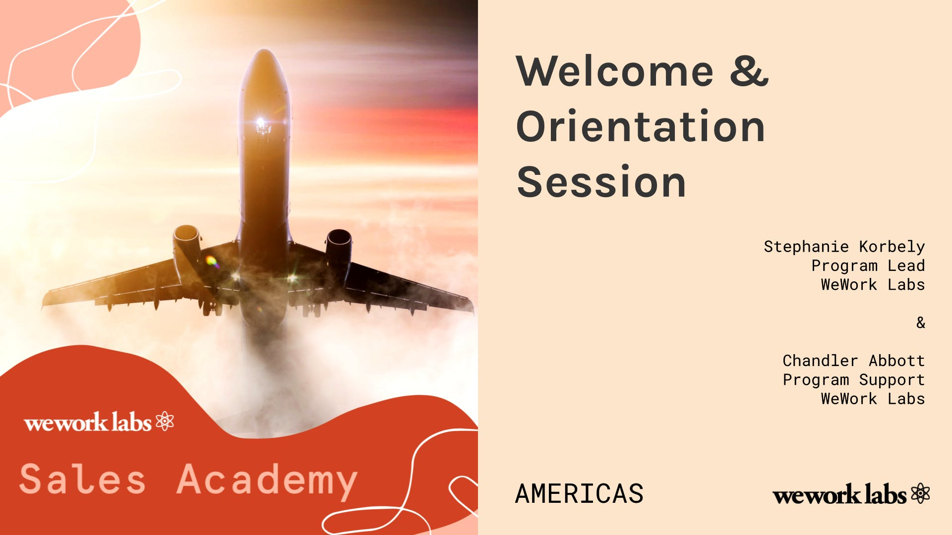 Sales Academy (Americas): Welcome & Orientation Session
