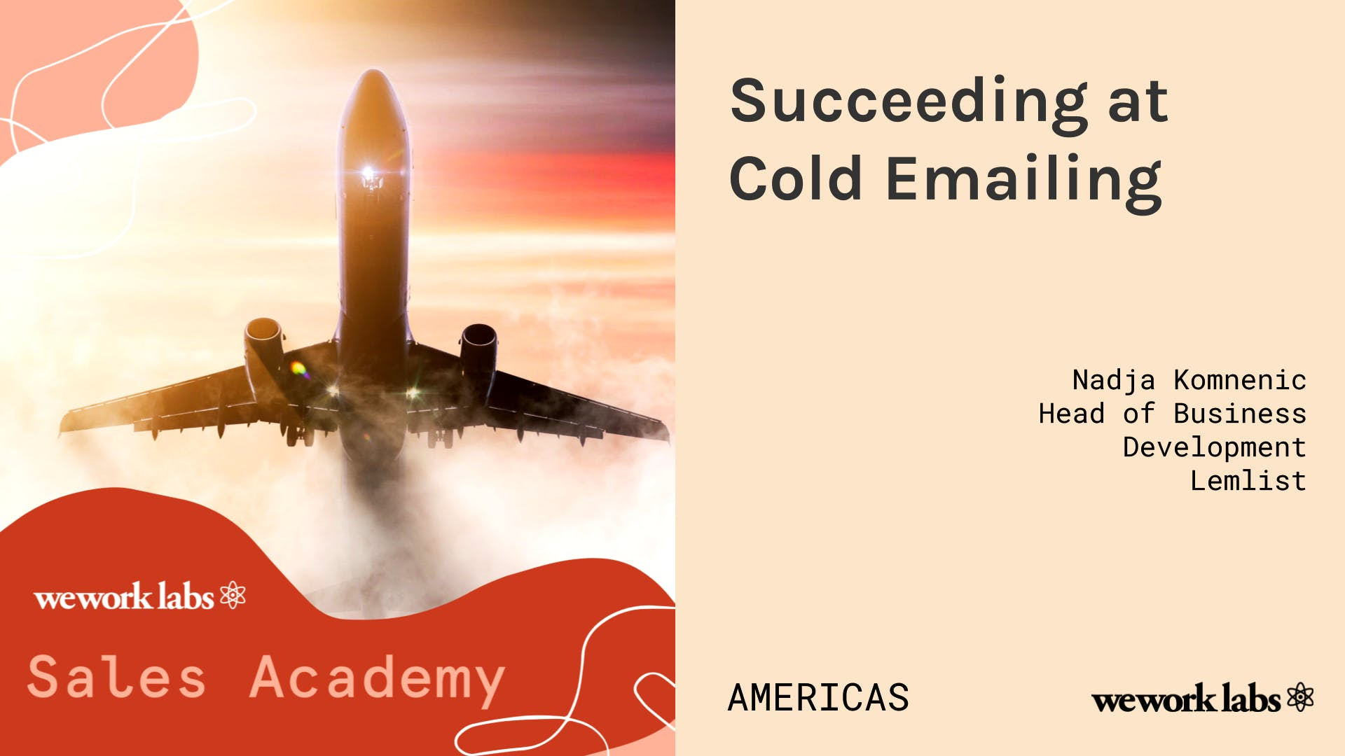 Sales Academy (Americas): Succeeding at Cold Emailing