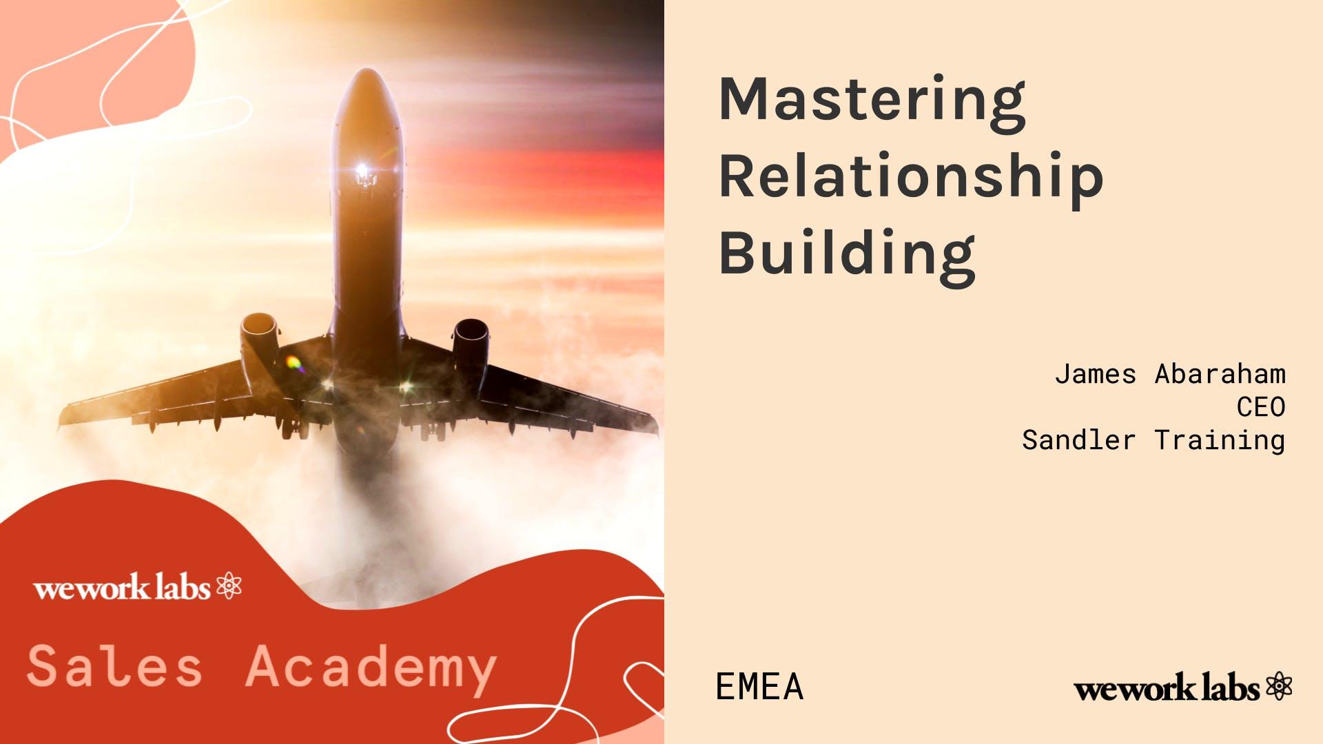 Sales Academy (EMEA): Mastering Relationship Building